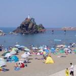 能生海岸、新潟の海水浴場穴場と言えばここ!魚釣り、貝、ウニ!花火の時以外は混雑しません